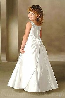 Handmade Embroidery Square A Line Princess Customzied Girls In Dresses21