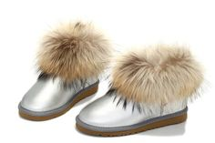 CHRISTIMAS CLEARANCE,90% DISCOUNT OFF, UGG Boots 5854 Foxfur Silver AAA,