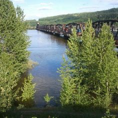 "train bridge, prince george, bc. When I lived in PG we used to nickname it the ""Steel Bridge"""