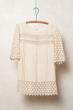 lacedot blouse / anthropologie