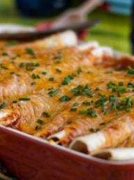 Veggie Enchiladas with Corn, Black Beans & Kale | KitchenDaily.com