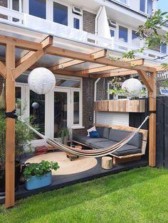 Small Backyard Patio, Small Backyard Design, Patio Gazebo, Backyard Patio Designs, Backyard Ideas, Outdoor Rooms, Outdoor Gardens, Outdoor Living, Back Garden Design