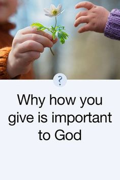 How do you give to the Lord? Do you just drop some money in the plate at church without much thought? Or do you just write a check to God at the first of every month and pay Him like you pay all your other bills? You need to think about that because how you give is a matter of deep concern to God. Read more: http://www.kcm.org/read/faith-to-faith?language=en-US&field_faithtofaith_date_value%5Bvalue%5D%5Bdate%5D=May+7