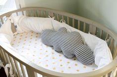 """""""A Room for Two"""" Nursery Reveal @Autumn Eaken Eaken Eaken Reeser features a Stokke Sleepi Crib"""