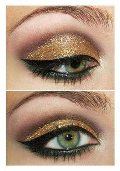 Sombra dorada con colores tierra...