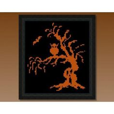 Name: 'Embroidery : Halloween Spooky Tree FREE Cross Stitch Embroidery Stitches Tutorial, Learn Embroidery, Cross Stitch Embroidery, Embroidery Patterns, Embroidery Techniques, Floral Embroidery, Fall Cross Stitch, Halloween Cross Stitches, Halloween Embroidery