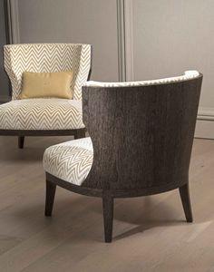 Grace wood armchair in grey sukupira. Bellavista Collection