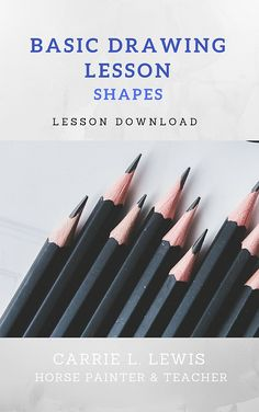 Everything—anything—you might ever want to draw can be broken down into basic shapes. Learn how to look for those shapes in your subjects and how to begin the drawing process with these fundamental shapes.  The lesson includes example photos and exercises to help you train your eye to see and draw the most basic shapes of any subject.