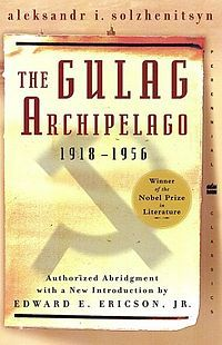 """The Gulag Archipelago (Russian: Архипелаг ГУЛАГ, Arkhipelag GULAG) is a book by Aleksandr Solzhenitsyn about the Soviet forced labor camp system."""