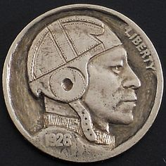Ralph Perrico - Football Player Hobo Nickel, Coin Art, Football Players, Art Forms, Sculpture Art, Buffalo, Classic Style, Coins, Miniatures