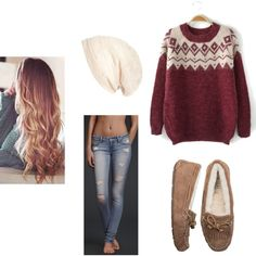 Sweater Weather. Created by moi. The perfect cozy outfit for fall or winter.
