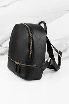 Suzie Grey Faux Leather Backpack