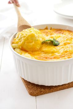 Cheesy Mashed Potato Casserole captures the beauty of twice-baked potatoes without the hassle. Gorgeous!