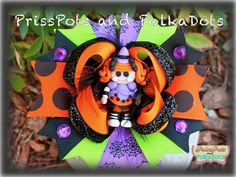 Candy Broomstick Lalaloopsy Boutique Halloween Hairbow Bow FALL clay Polymer