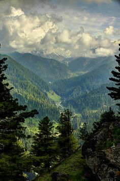 Pir Panjal Peaks View from the Gulmarg Viewpoint in Kashmir, India