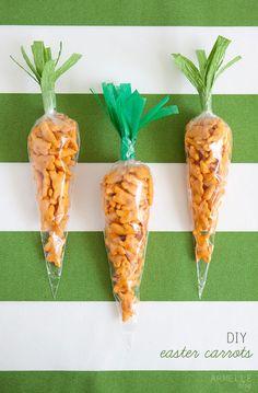 """diy: easter """"carrot"""" snacks ..."""