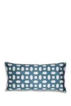 Mosaic Overlay Laser Cut Pillow - Teal/White - 12in. x 24in.