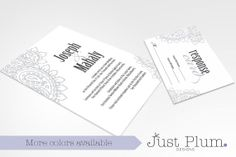 Perfectly Paisley Printable Wedding Invitation by JustPlumDesigns, $50.00