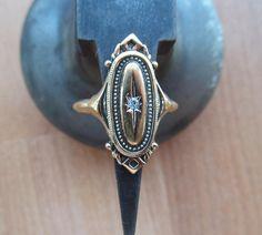 Avon Kensington golden victorian style ring by lolatrail on Etsy, $10.00