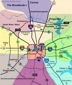 Map Of Houston And Surrounding Cities Maps Houston Texas