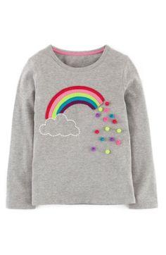Mini Boden -Dotty Appliqué T-Shirt in Gre Marl Rainbow- Mädchen . - Mini Boden – Dotty Appliqué T-Shirt in Gre Marl Rainbow – Girls … - Sewing Shirts, Sewing Clothes, Diy Clothes, Sewing Dolls, Mini Boden, Shirt Diy, Tee Shirt, Diy Kleidung, Diy Vetement