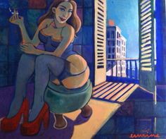 Red shoes 2, oil on canvas, 100x 120cm, @erminepoort