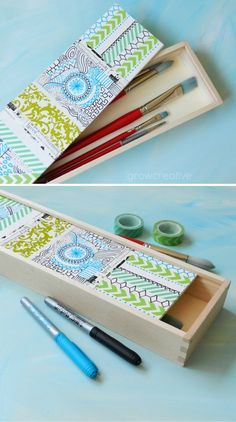 DIY Easy Washi Tape Ideas for Storage | http://diyready.com/100-creative-ways-to-use-washi-tape/