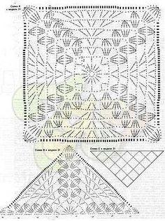 Großes Square Motiv häkeln  /  crochet Big Square Motif