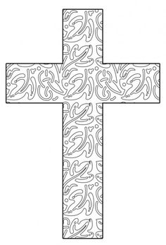Free Printable Cross Coloring Pages | Free printable, Free and Easter