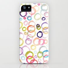 painted circle patterned iPhone & iPod Case by Aticnomar - $35.00 Circle Pattern, Ipod, Iphone Cases, Ipods, Iphone Case, I Phone Cases