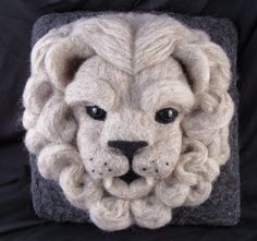 Im delighted to say that The Stone Lion as found a new home and is RESERVED. Unless you are named Jillian and we have had this conversation, please do not purchase! Thank you!    This is for the first layaway payment of $100.00.    THE STORY: He is called The Stone Lion, although he is sculpted in wool instead of stone. Silently he stands guard. He is the protector, the chaser of all things evil. Alone he sits, high above the rest, watching the world pass him by, ever watching for trouble…