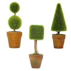 Packaged for sale, we will send these 3 cute little guys to your side as soon as possible. Lifelike artificial plants will make your home more warm. Great for use in home, commercial spaces, hotels, casinos, shopping malls,coffee house. Makes for a wonderful and affectionate gift set for cherished family and friends or as a charming decorative display in your own home. Approximate Dimensions (each pot, in inches): 5.9 H X 2.3Diameter.