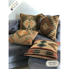 Hand woven Cushion for a Ethnic look to your Exotic Room, Add beauty to your decor. Boho Throw Pillows, Kilim Cushions, Throw Cushions, Throw Pillow Cases, Dorm Tapestry, Bohemian Tapestry, Vintage Walls, Vintage Rugs