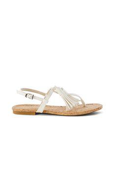 Flache Sandale mit Quaste