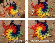 Atrapasueños Multicolor en Espiral / Paso a paso   Crochet y Dos agujas - Patrones de tejido
