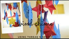 Today we will make a paper wind chimes at home using thread and needle. Paper Crafts, Diy Crafts, Craft Work, Creative Crafts, Wind Chimes, Projects To Try, Make It Yourself, Outdoor Decor, Youtube