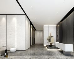 Office Lobby, Hospitality, Bathtub, Black And White, Architecture, Interior, Room, House, Furniture