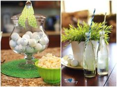 golf themed table decor ideas-