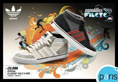 Zapatillas Filete / Paris Adidas, High Tops, High Top Sneakers, Book, Shoes, Fashion, Steak, Sneaker, Zapatos