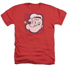 Popeye/Head Adult Heather T-Shirt in