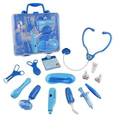 Jerryvon Doctor Kit Pretend Play Doctor Playset Medical Carrycase Nurses Toy Set Fun Toy Gift Early Education For Kids 3+ Years - Product Description: The plastic doctor's bag easily fits all of the pieces inside. With the stethoscope kids will really hear their heart beating when they listen through the scope! Pieces include stethoscope, thermometer, syringe and more. FeatureThe medical carrycase is convinent for kids to p...