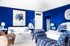 Beautiful blue How to Create a Perfect Furniture Plan for Your Space via @domainehome