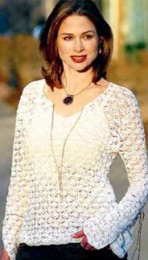 Beautiful Crochet Top - •DMC Traditions Crochet Cotton(Art.145) 5712 Cream or choose from any of the other Traditions colors, in the following amounts:  Extra Small — 6 balls or 1800 yards (1645 m)  Small — 6 balls or 2000 yards (1825 m)  Medium — 7 balls or 2600 yards (2375 m)   Large — 9 balls or 3000 yards (2740 m)   Steel crochet hook size 7 (1.5 mm)  free pattern from favecrafts.com