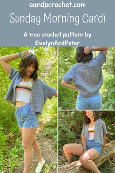 Sunday Morning Cardigan- A Free Crochet Pattern by Evelyn And Peter. This pattern includes sizes XS-5X and is very beginner friendly! #crochetpattern #crochetcardigan #crochetsweater #evelynandpeter #lionbrandyarn #easycrochet #cutecrochet #crochet
