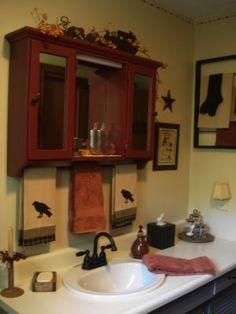 Primitive Medicine Cabinet! Luv It! Primitive Bathroom DecorPrimitive ...