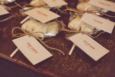 include favors with name cards Vintage Country Weddings, Country Wedding Inspiration, Chocolate Favors, Candy Favors, Seating Cards, Name Cards, Wedding Favours, Real Weddings, Birthday Parties