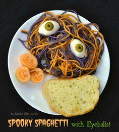 Make Life Lovely: Spooky Spaghetti with Eyeballs Pasta Recipe