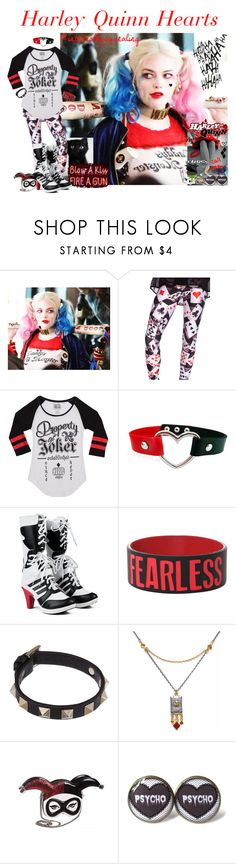 """""""Harley Quinn Hearts (Here it is!)"""" by damack ❤ liked on Polyvore featuring Valentino, Jeffrey Campbell, jared, Sophie Harley London, hearts, roses, QueenOfHearts and harleyquinn"""