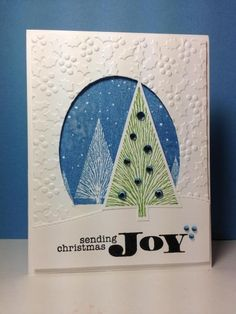 Winter Moon, many branches tree, Miracle of the Holiday: hero arts, by beesmom - Cards and Paper Crafts at Splitcoaststampers