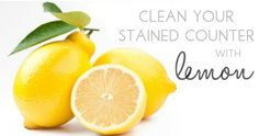 Stain remover  Remove pesky set-in stains on countertops with lemon juice. Let the juice sit on the stained area for about five minutes, and then wipe it clean.    http://www.organicauthority.com/sanctuary/natural-cleaning-best-green-cleaners-for-the-kitchen.html